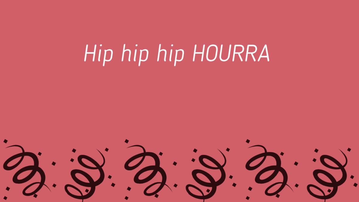 fond Hip hip hip Hourra